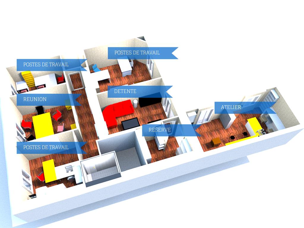 Plan du local 3D