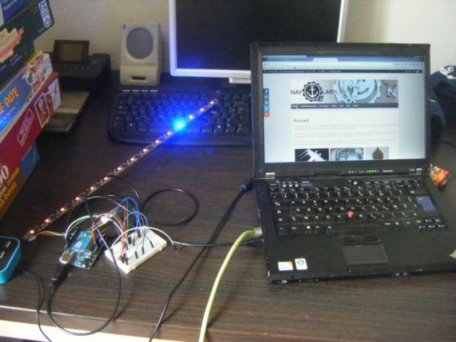 Rampe 15 LEDS RGB
