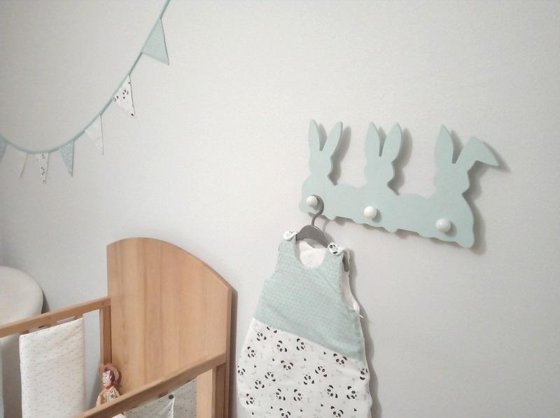 porte-manteaux lapins fraiseuse CNC DIY chambre bébé