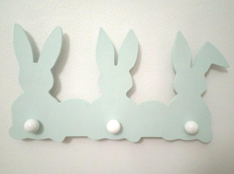 porte-manteaux lapins fraiseuse CNC DIY chambre bébé FabLab