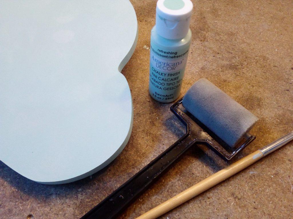 veilleuse nuage chambre enfant peinture craie couleur douce americana decor tutoriel