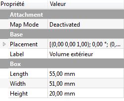 FreeCad projet tutoriel realisation boitier pas a pas fenetre dimensions