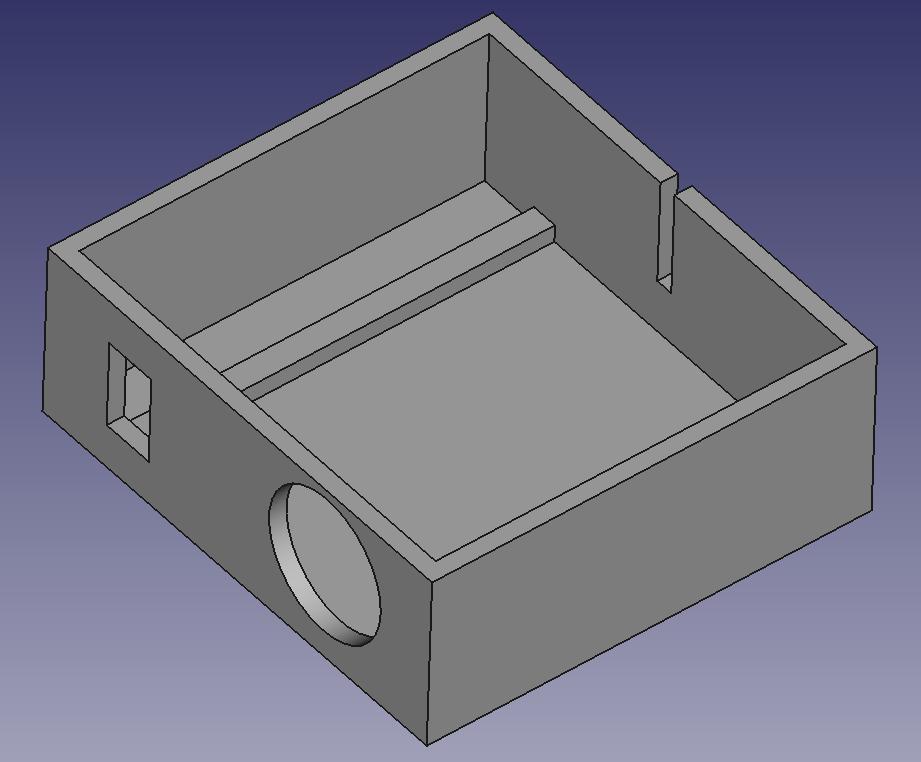 veilleuse nuage FreeCAD tutoriel boitier Arduino nano navlab pas a pas