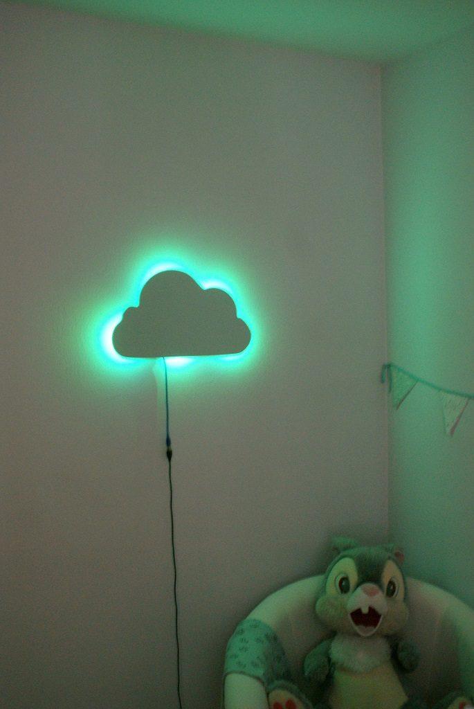 veilleuse nuage tutoriel diy navlab arduino cnc avec fil allumée led