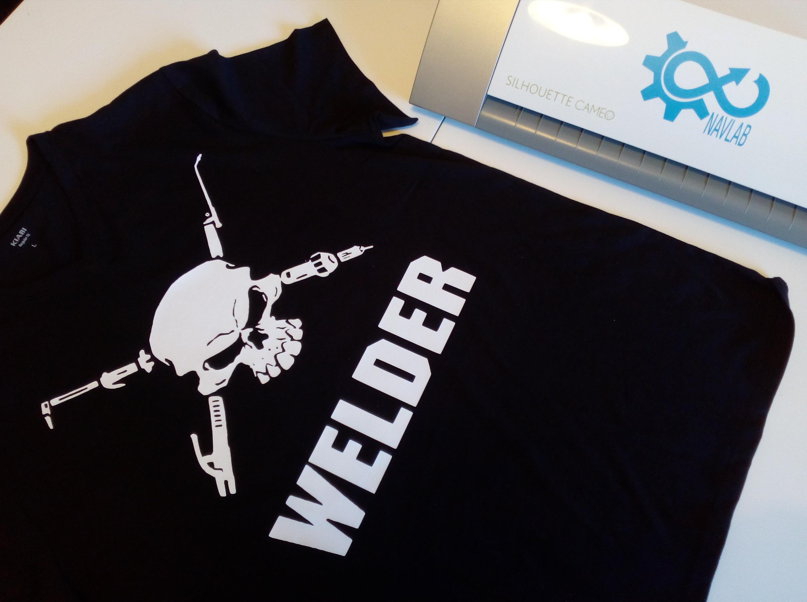 NavLab flocage tshirt silhouette cameo welder crane diy