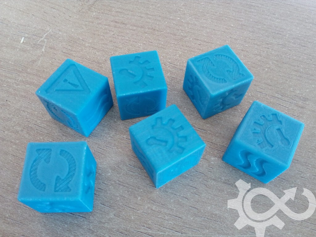 NavLab - GasLands - Dés imprimés en 3D