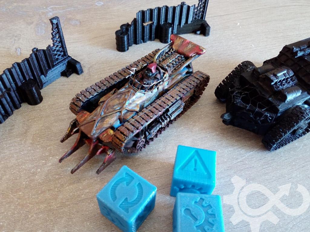 NavLab - Gaslands - Jeu de figurine post-apocalyptique - impression 3D diy véhicules barricades dés