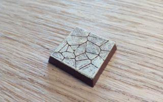 NavLab - Tutoriels - TinkerCAD - dallage pour socle de figurine imprimé en 3D - rendu final