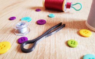 NavLab - Tutoriels numériques et ludiques - Modélisation 3D - Outillage de couture - clip à canette - rendu final